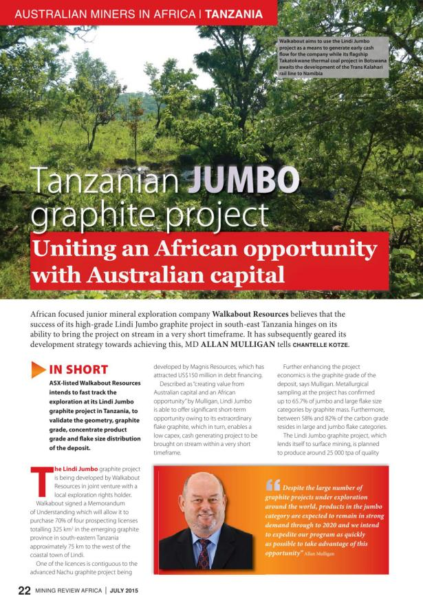 Mining Review Africa Issue 7 2015