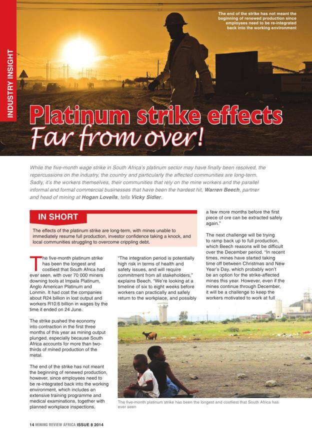 Mining Review Africa Issue 8 2014