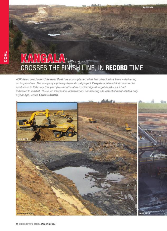 Mining Review Africa Issue 5 2014